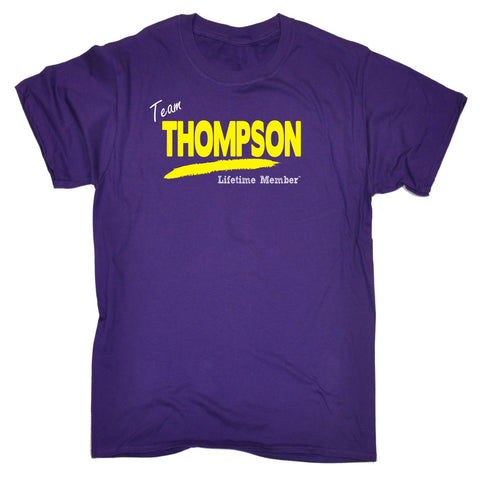 123t Men's Team Thompson Lifetime Member Funny T-Shirt