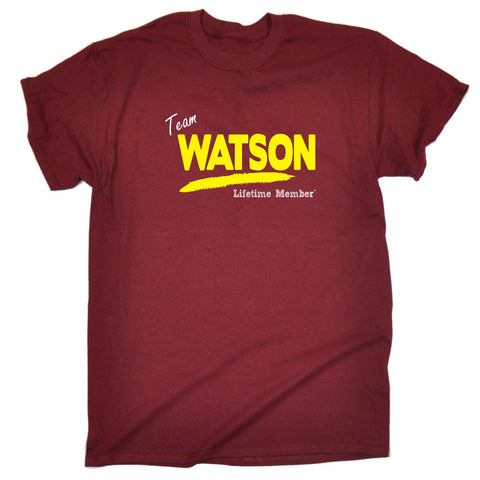 123t Men's Team Watson Lifetime Member Funny T-Shirt