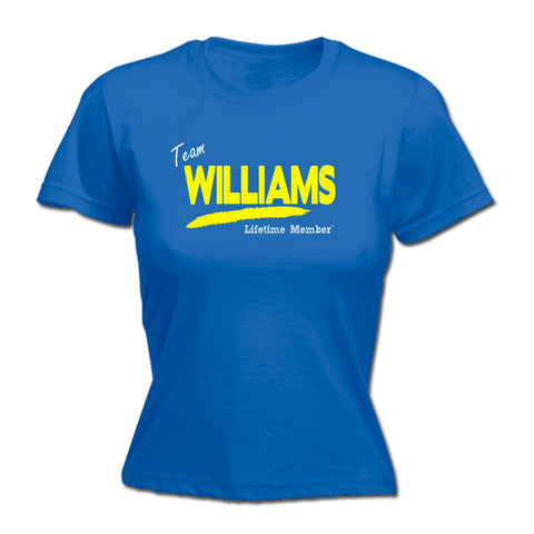 123t Women's Team Williams Lifetime Member Funny T-Shirt