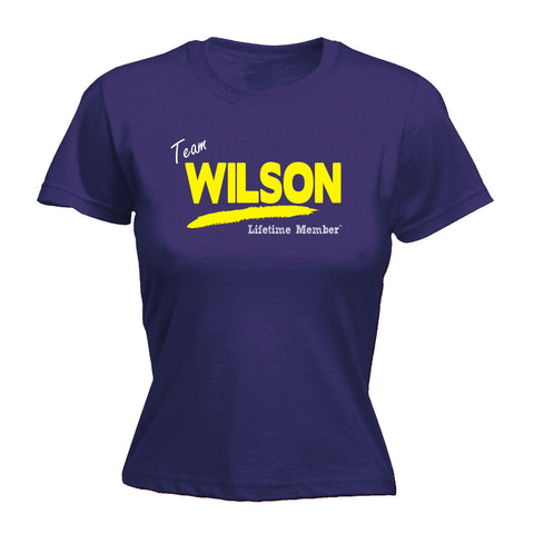 123t Women's Team Wilson Lifetime Member Funny T-Shirt