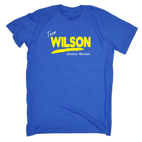 123t Men's Team Wilson Lifetime Member Funny T-Shirt