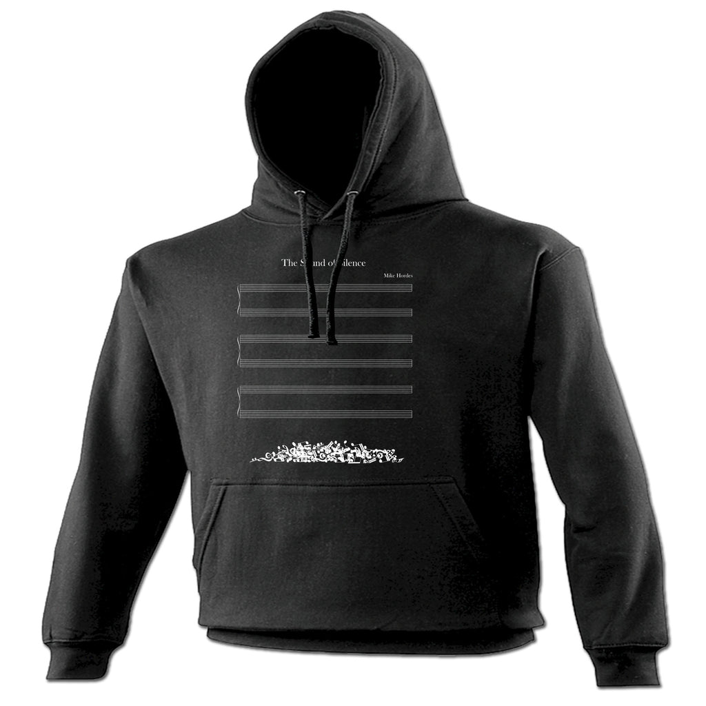123t The Sound Of Silence Musical Notes Fallen Off Design Funny Hoodie