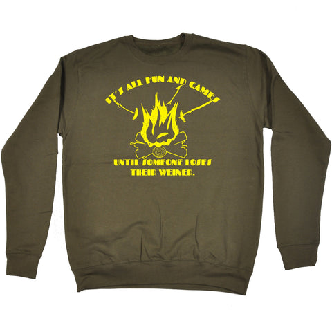 123t It's All Fun And Games Loses Their Weiner Funny Sweatshirt