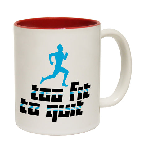Personal Best Too Fit To Quit Funny Running Mug