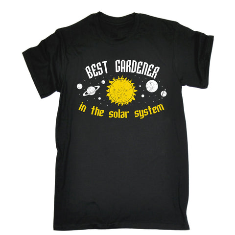 123t Men's Best Gardener In The Solar System Galaxy Design Funny T-Shirt