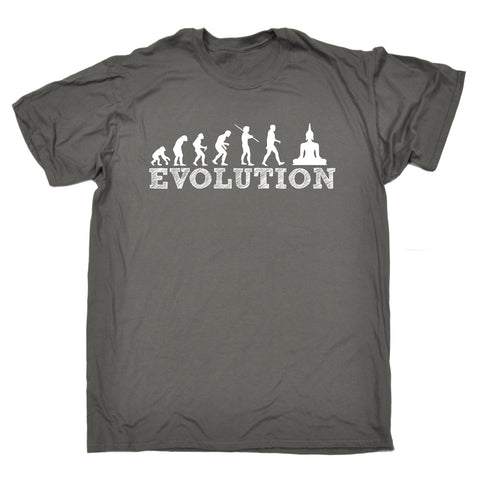 123t Men's Evolution Buddha Funny T-Shirt