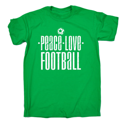 123t Men's Peace Love Football Funny T-Shirt