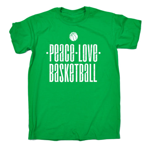 123t Men's Peace Love Basketball Funny T-Shirt