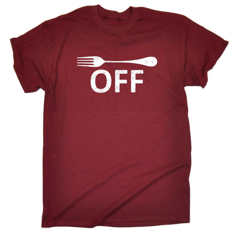 123t Men's Fork Off Design Funny T-Shirt