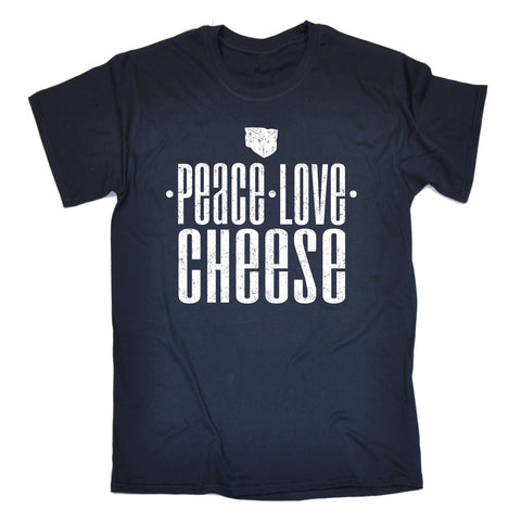 123t Men's Peace Love Cheese Funny T-Shirt