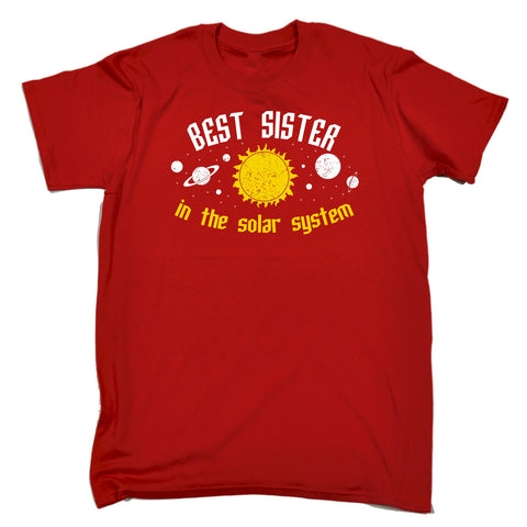 123t Men's Best Sister In The Solar System Galaxy Design Funny T-Shirt