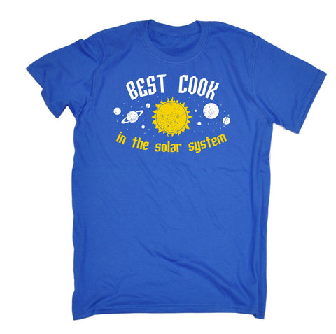 123t Men's Best Cook In The Solar System Galaxy Design Funny T-Shirt