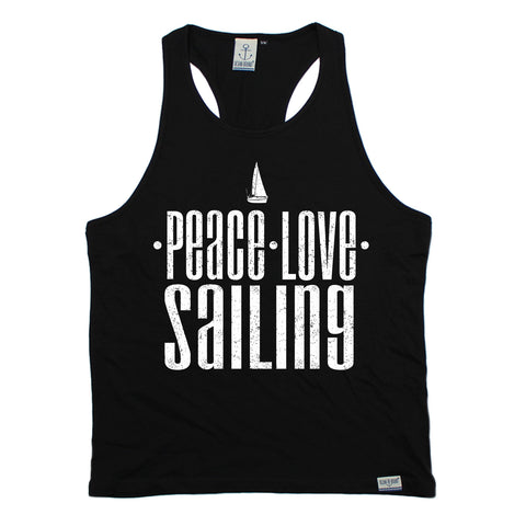 Ocean Bound Peace Love Sailing Men's Tank Top