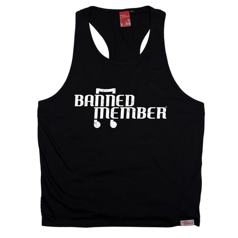 Banned Member Musical Note Music Men's Tank Top