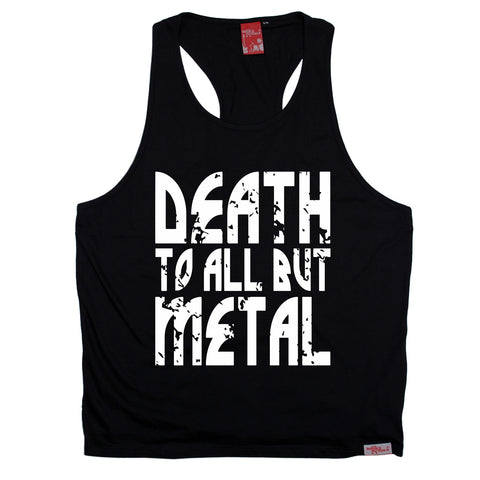 Banned Member Death To All But Metal Band Men's Tank Top