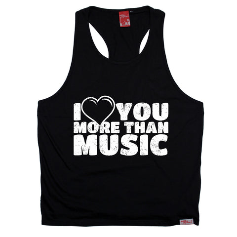 Banned Member I Love You More Than Music Men's Tank Top