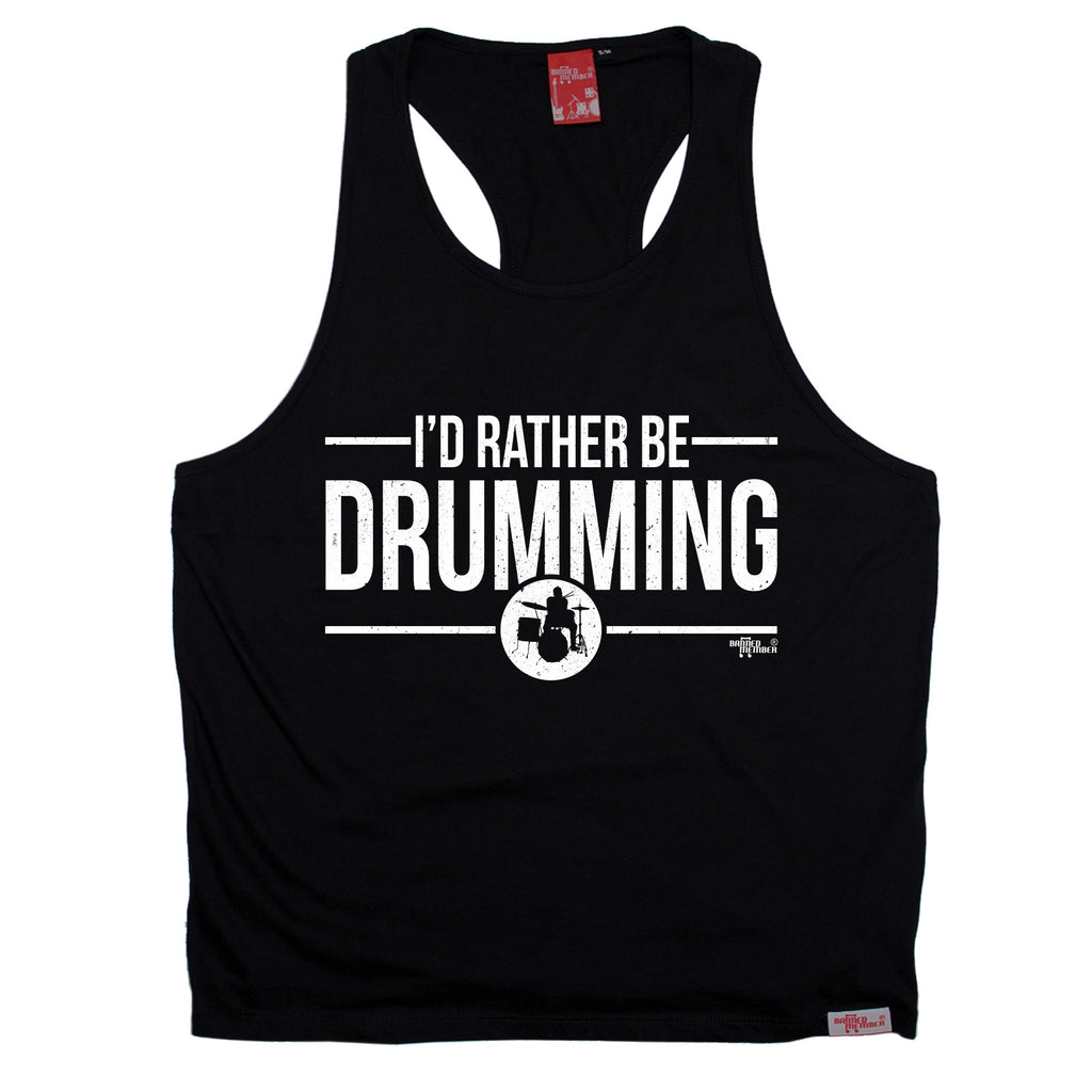 Banned Member I'd Rather Be Drumming Drummer Men's Tank Top