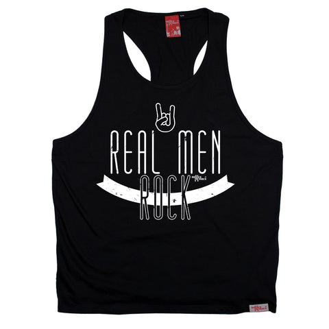 Banned Member Real Men Rock Music Men's Tank Top