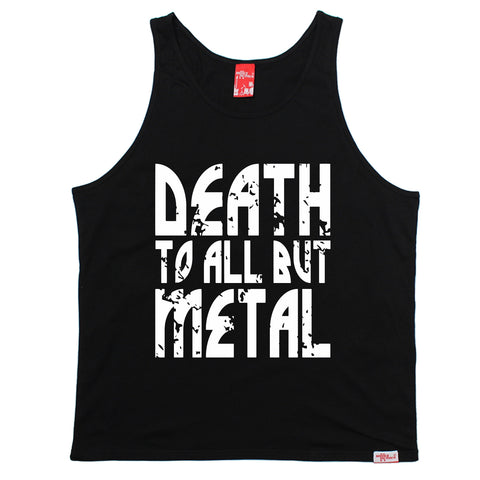 Banned Member Death To All But Metal Band Vest Top