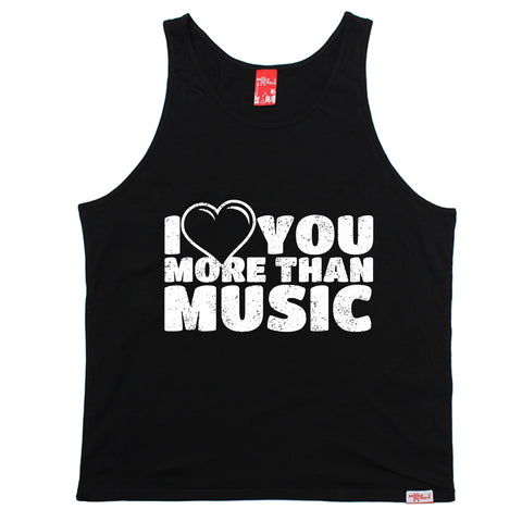Banned Member I Love You More Than Music Vest Top