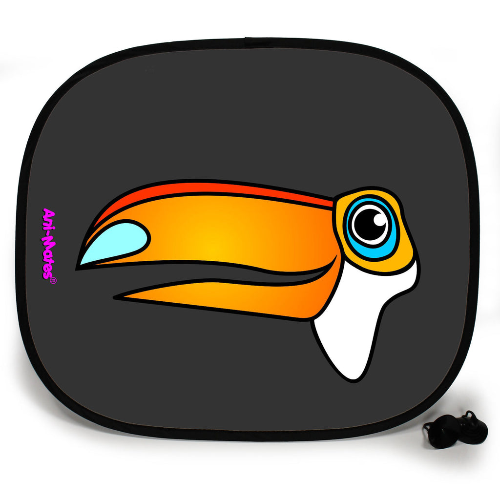 Ani-Mates Animals Toucan Personalised UV Protection Fun Vehicle Interior Window Car Sunshade