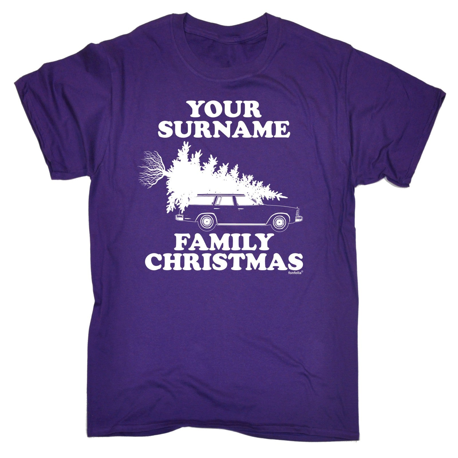Personalised Surname Family Christmas T-SHIRT Santa Custom Present ...