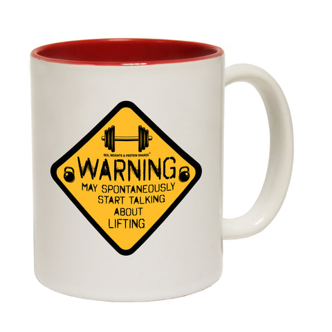 SWPS Warning May Spontaneously Start Talking About Lifting Funny Gym Mug