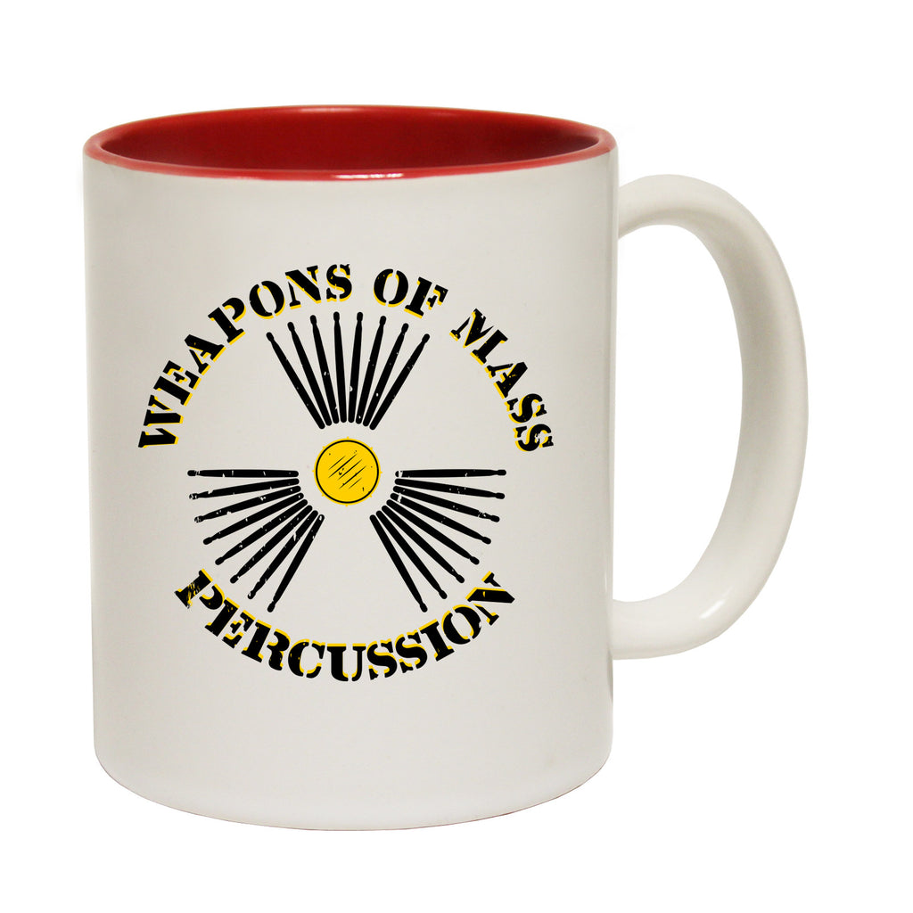 123t Weapons Of Mass Percussion Funny Mug