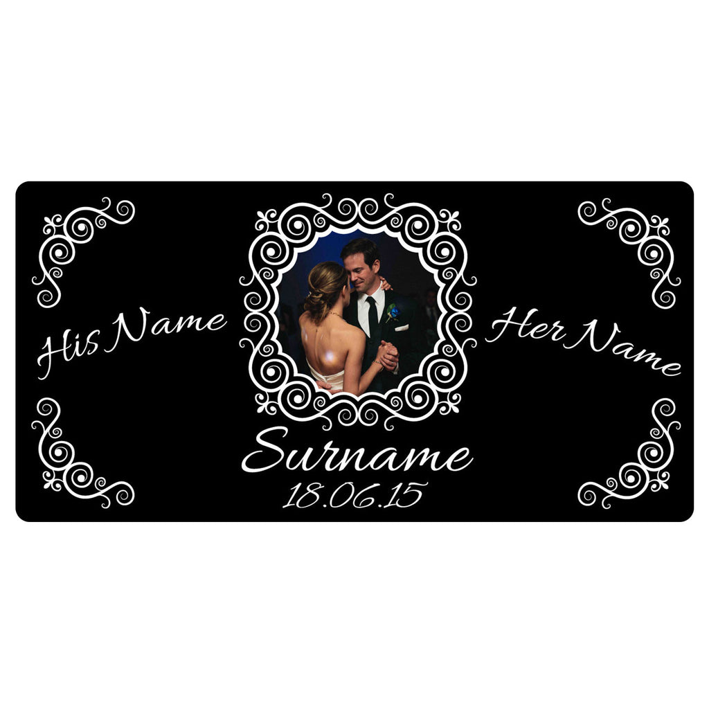 123t His Name / Her Name Wedding Style - Personalised Funny Custom Bar Runner