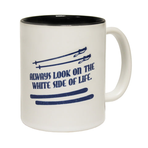 Powder Monkeez Always Look On The White Side Of Life Funny Skiing Snowboarding Mug