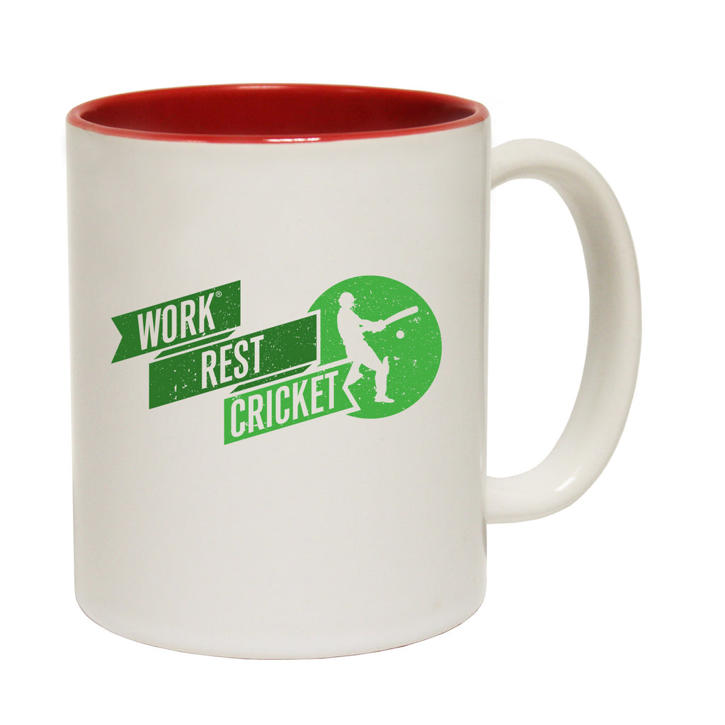 123t Work Rest Cricket Funny Mug