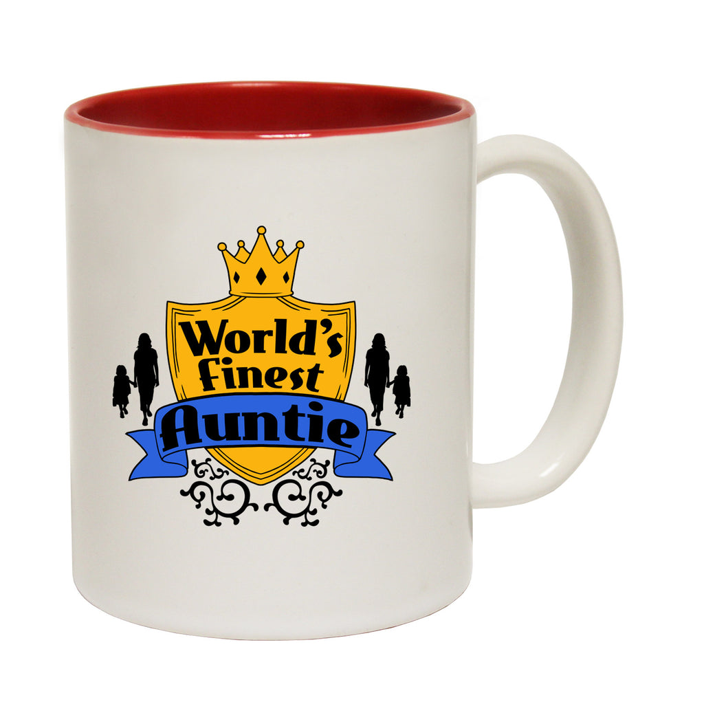 123t World's Finest Auntie Funny Mug