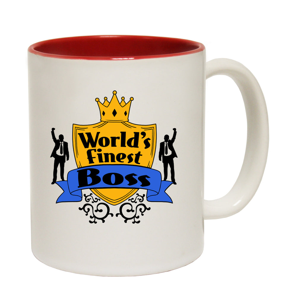 123t World's Finest Boss Funny Mug