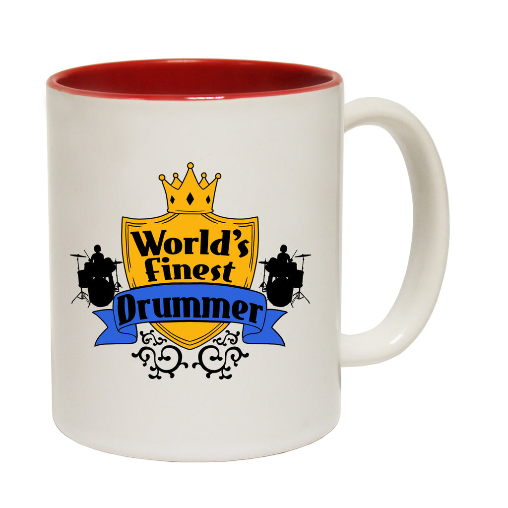 123t World's Finest Drummer Funny Mug