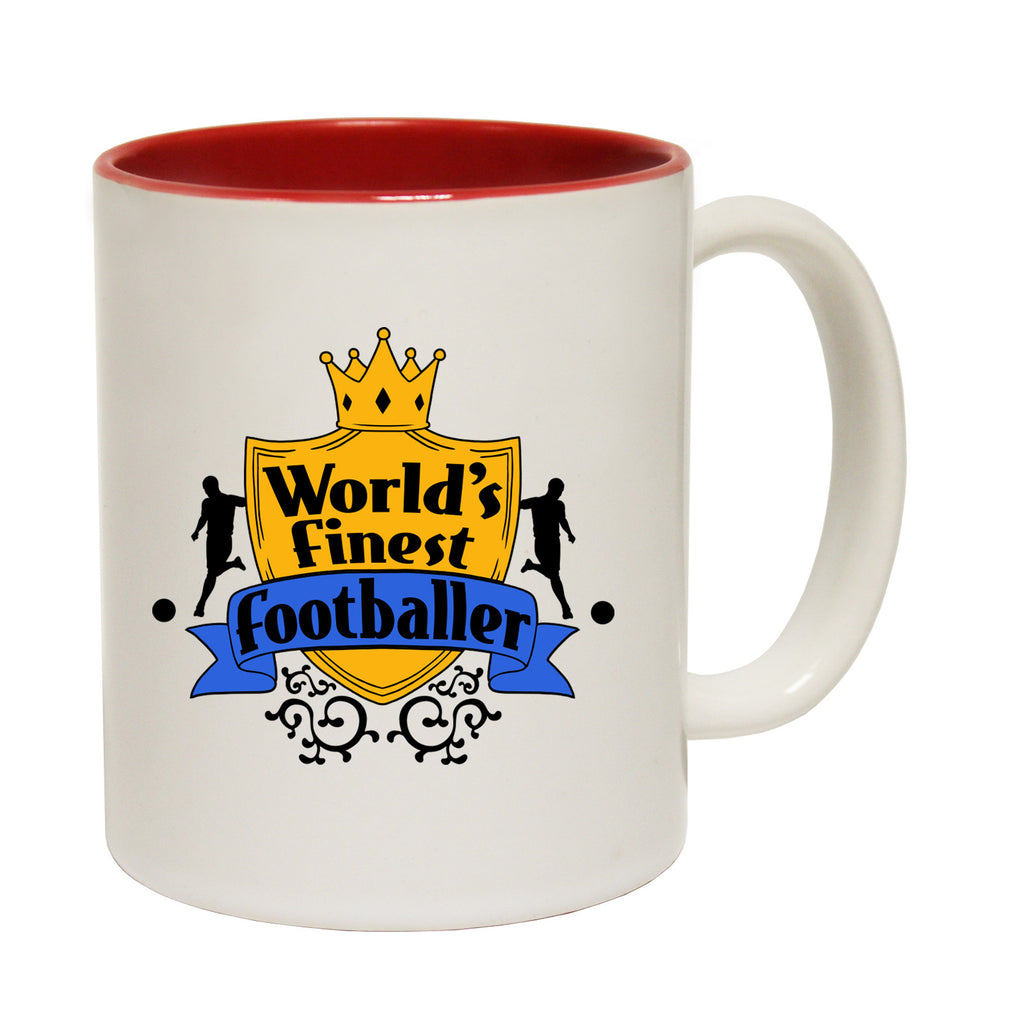 123t World's Finest Footballer Funny Mug