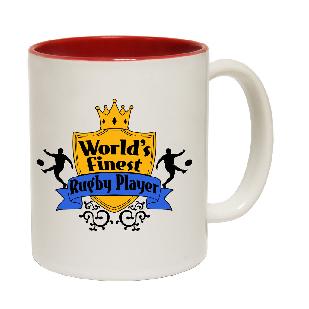 123t World's Finest Rugby Player Funny Mug