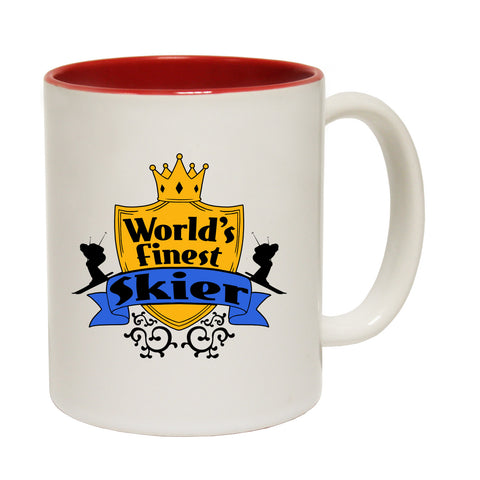 123t World's Finest Skier Funny Mug