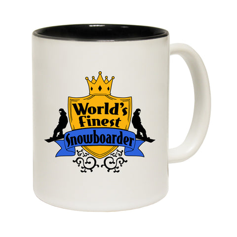 123t World's Finest Snowboarder Funny Mug