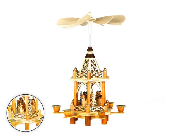 Filagree  Wooden Pyramid with Angels