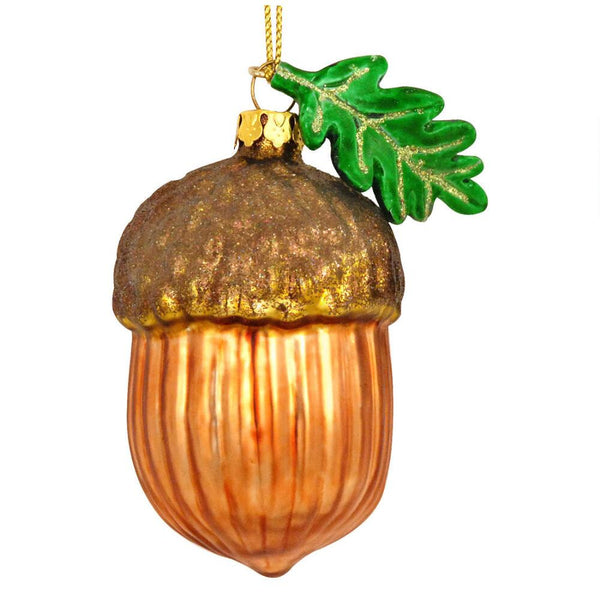 Acorn With Leaf Ornament