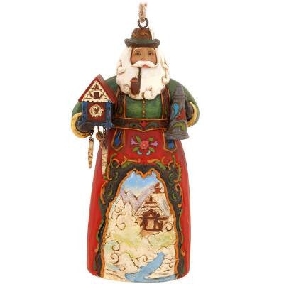 German Frohe Weihnachten Santa Hanging Ornament