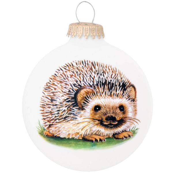 The Symbol Of The Hedgehog Glass Ornament