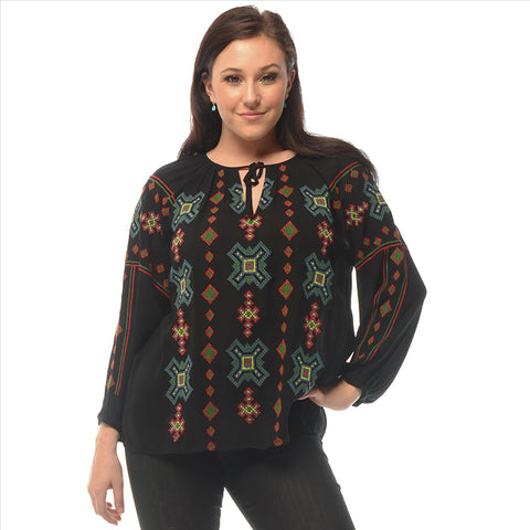 New Style  Embroidered blouse