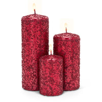 Textured candles