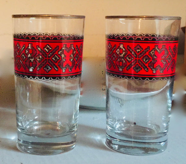 Embroidered Highball Glassware