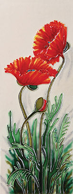 Growing Poppies Benaya Art Tile