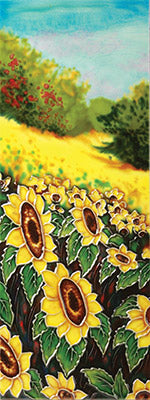 Hill Side Sunflower Benaya Art Tile