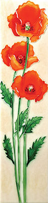 California Poppies Benaya Art Tile