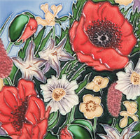 Poppy Garden Benaya Art Tile
