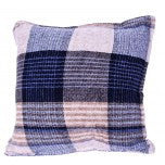 Blue Sand Chenille Throw and Pillow